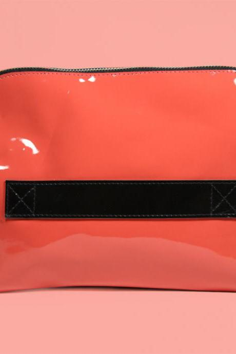 Megan Pink - Handmade Leather Clutch / Leather Purse / Pink Clutch / Pink Handbag
